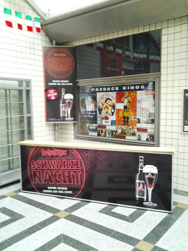 Promotion in den Passage Kinos